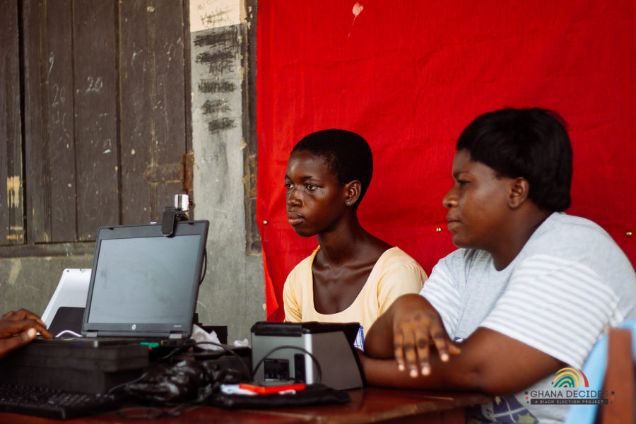 Voter registration for elections in Ghana