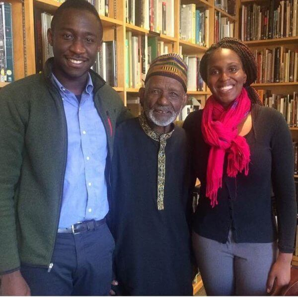 Ghana history buffs Kirstie Kwarteng and Anakwa Dwamena,after interviewing James Barnor for The Nana Project